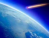 Comet Flying Towards Planet